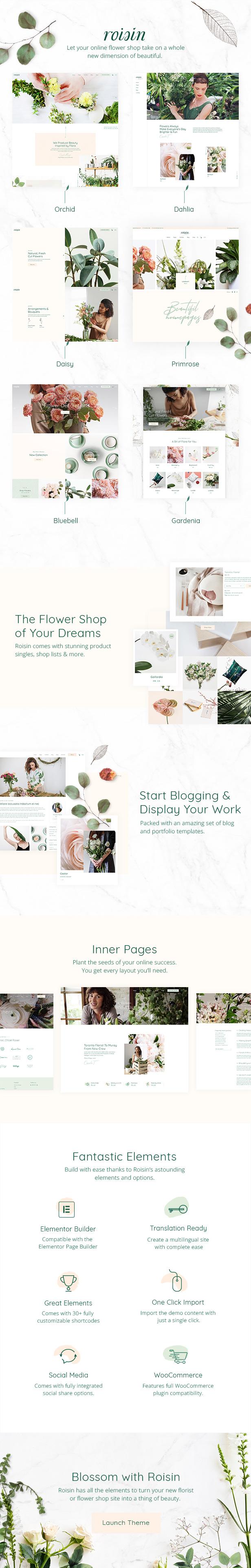 Roisin - Flower Shop and Florist Theme - 1